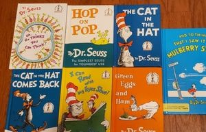7 pieces of books from Dr. Seuss